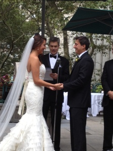 Melissa and Matt exchange vows