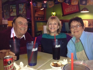 Jack, Elissa, and Joan at San Felipe's Cantina