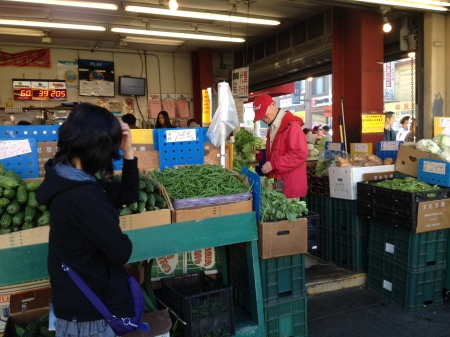 Market in Chinatown in San Francisco