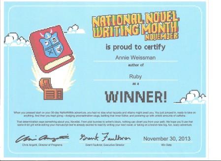 NaNoWriMo certificate 001