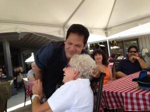 Julian gave Dee lots of hugs