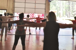 Tai Chi at the Pinewood Fire Department Bay