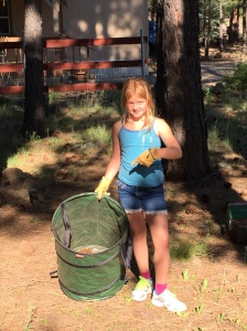 Abby and the handy dandy green barrel
