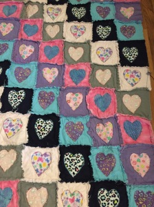 close up of the quilt