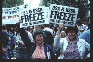 My mom, Rae Weissman, at a women's Strike for Peace march