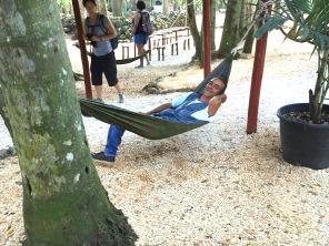 Ramon in the hammock at Rancho Palma